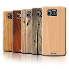 STUFF4 Phone Case/Back Cover for Samsung Galaxy Alpha /Wood Grain Effect/Pattern
