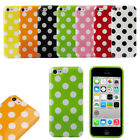 1PC Hot Colorful Polka Dot Pattern Soft Case Cover Skin For Apple iPhone 5C T11S