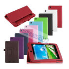 PU Leather Folio Holder Cover Case For 7-inch Acer Iconia One 7 B1-730 Tablet