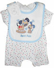 Baby Boys Romper and Bib Set Best Pals Puppy100% Cotton Limited Stock NB 0-3 3-6