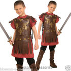 CK327 Roman Gladiator Boys Costume Warrior Roman Soldier Fancy Dress Up Outfit