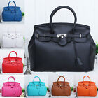 2015 New Celebrity Retro WOMEN  Lady Lock PU Leather KELLY STYLE Totes Hand Bag