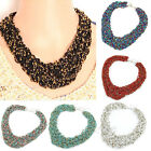 Fashion Jewelry Bohemia Statement Bib Beaded Chunky Choker Collar Necklace Chain