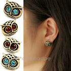Lady Vintage Jewelry Fashion Style Owl Rhinestone Cute Vintage Ear Stud Earrings