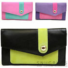 Ladies / Womens Multi-Coloured Matinee Soft Leather Purse