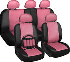 OxGord Faux Leather Car Seat Covers 17pc Set w/Steering Wheel/Belt Pad/Head Rest <br/> #1 Seller~OxGord&reg;~Air Bag Safe~2016 Design~10,000 Sold!