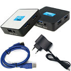 EU 5Gbps External USB 3.0 4 Ports Hub Adapter With Power Adapter For PC T3JS
