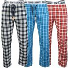 Mens Long Pyjama Bottoms by Tokyo Laundry Brushed Flannel Check