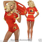 CL357 Baywatch Lifeguard Babe Costume + Float Beach Adult Fancy Dress Up 90's