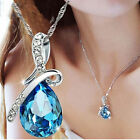 Fashion Charms Crystal Rhinestone Drop Chain Necklace Pendant Jewelry Bijouterie