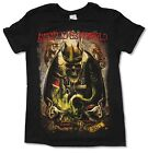 """AVENGED SEVENFOLD """"KING"""" TOUR 2015 BLACK SLIM FIT T-SHIRT NEW OFFICIAL ADULT A7X"""