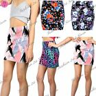Womens Ladies Floral Summer Stretchy Fitted Bodycon Mini Length Skirts Plus Size