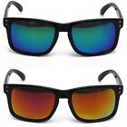 Revo Retro Men ZZ Flat Top Fire Red Ice Blue Mirror Classic Holbrook Sunglasses