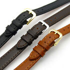 Ladies Flat Calf Leather Watch Strap Band Choice of 3 Colours 10mm 12mm 14mm