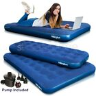 INFLATABLE SINGLE/DOUBLE FLOCKED AIR BED CAMPING RELAX AIRBED MATTRESS W PUMP