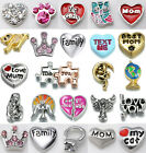 Bulk New 5PCS Floating Charms For Glass Memory Locket necklace Bracelet Jewelry