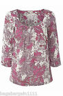 RRP£37 NEW WHITE STUFF IVORY PINK RED GREY TUNIC BLOUSE SUMMER TOP BLOSSOM PRINT
