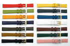 Fine Calf Leather Watch Strap Band Choice of Colours 8mm 10mm 12mm 14mm