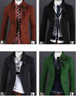 US Seller Mens Stylish Double Breasted Button Up SlimFit Jacket Casual Coat PK93
