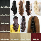 Straight Wavy Curly 6 Colors Ponytail Hair Extensions Claw Clip In Hairpieces MU