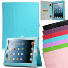 Wallet Soft PU Leather Smart Sleep Wake Stand Magnetic Case Cover For iPad 2 3 4