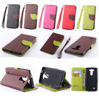 Magnetic Strap Stand Card holder Flip leather Cell case cover For LG Cell Phones