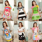 Lovely Women's Cartoon Loose Polka Dot Sleepwear Pajamas Short Sleeve Sleepshirt