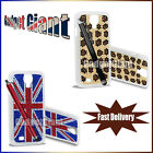 Union Jack Bling Leopard Case Cover Pouch For Samsung Galaxy S4 I9500 *Free Film