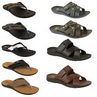 Mens Gezer Togo  Brown Flip Flop Sandal Pool Shoes Size 6  7 8 9 10 11