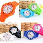 SKMEI Waterproof Candy Color Sport Quartz Analog Rubber Band Girls Student Watch