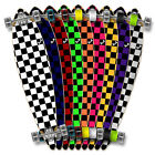 Punked Checker Graphic Flat Pintail Longboard Complete skateboards