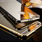 New Luxury Aluminum Metal Case Cover Mirror Back For iPhone 5 5S 6 Plus 5.5