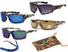 POLARIZED Men Sport Wrap Camouflage Camo Sunglasses Asian Fit Outdoor Duck Hunt