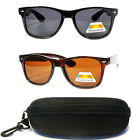 Large Polarized Lens Black Brown Ray Men Women Retro Wayfarer Shades Sunglasses