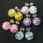 Chic Celebrity Runway Galaxy Crystal Glass Double Sided Cubic Zirconia Earrings
