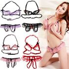 New Sexy Women Lingerie Lace Bra set Bikini Crotch Underwear Sleepwear Babydoll