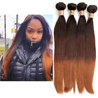 "Straight Silky No Tangle Hair ,3Colors 1B/4/30# Natural Ombre12""-30"" Virgin Hair"