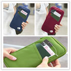 Travel Passport Ticket Holder Organiser Wallet Full Closure Zip Document Bag