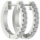 VVS/VS/SI/FG Round Diamond Jewelry 0.30 Ct 14Kt Solid Gold Hoops Huggie Earring