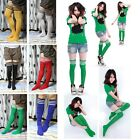 Women's Cotton Thigh High Football Over-Knee Rugby Sports Tube Socks Students