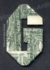 MONEY ORIGAMI LETTERS Made with REAL Dollar Bill Cash Currency Alphabet BankNote