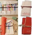 Novelty Canvas Brushes Makeup Pencil Wrap Case Roll Up Pouch Bags Holders -Z