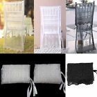 New Lace Embroidery Organza Chiavari Chair Covers Wedding Party Banquet Decor