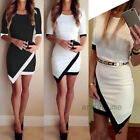 New Sexy Womens Bandage Bodycon Party Evening Cocktail White Black Mini Dress