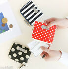 Corner Half Wallet Pattern Purse Zipper Zip Around Card Pocket Case Coin Holder