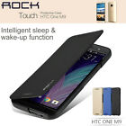 For HTC ONE M9 Rock Ultra Thin Slim Flip Leather Smart Wake/Sleep Case Cover