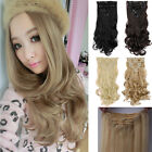 100% 8PCS Full Head Clip In Hair Extensions Straight Curly Double Weft Hairpiece