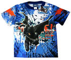 Boys BATMAN THE DARK KNIGHT vibrant blue summer t-shirt Sz XS-L 4-8y Free Ship