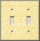Switch Plates And Outlet Covers - Vintage Rosette - Yellow Rose - Home Decor