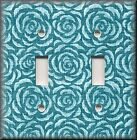 Switch Plates And Outlet Covers - Vintage Rosette - Turquoise Rose - Home Decor